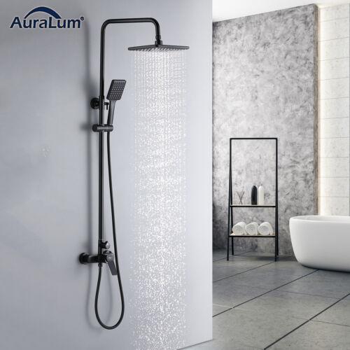 Schwarz Duschsystem Regendusche Duschset Duscharmatur Duschpaneel mit Handbrause