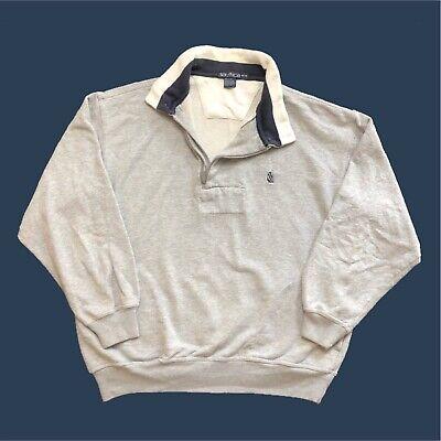 Vintage Nautica Sweatshirt Large/XL Fitting, Grey, Good Condition