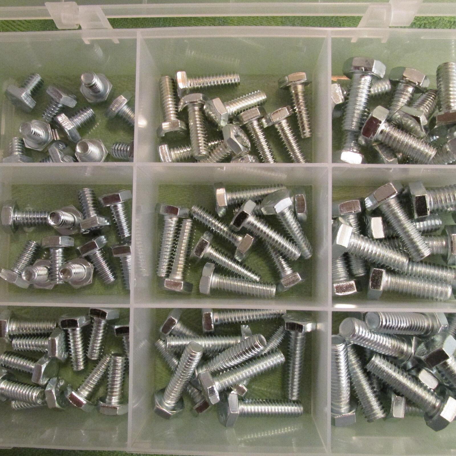 Zollschrauben Sortiment UNC 14 516 NEU 90 Stück Sechskantschrauben