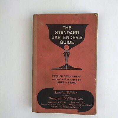 Vintage Bartender Book Drink Standard Guide Cocktail Recipes Bartending (Standard Drink)