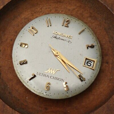 VINTAGE LONGINES ULTRACHRON AUTOMATIC 6652 MENS WATCH MOVEMENT + DIAL RUNNING