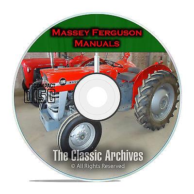 Massey Ferguson Shop Service Manuals Mf35 Mf135 Mf150 Mf165 34 Total Cd F53