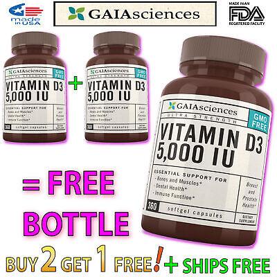 3 Bulk ORGANIC VITAMIN D3 Supplement Coconut Oil Capsules for Women Best (Best Vitamin D3 Supplement Reviews)