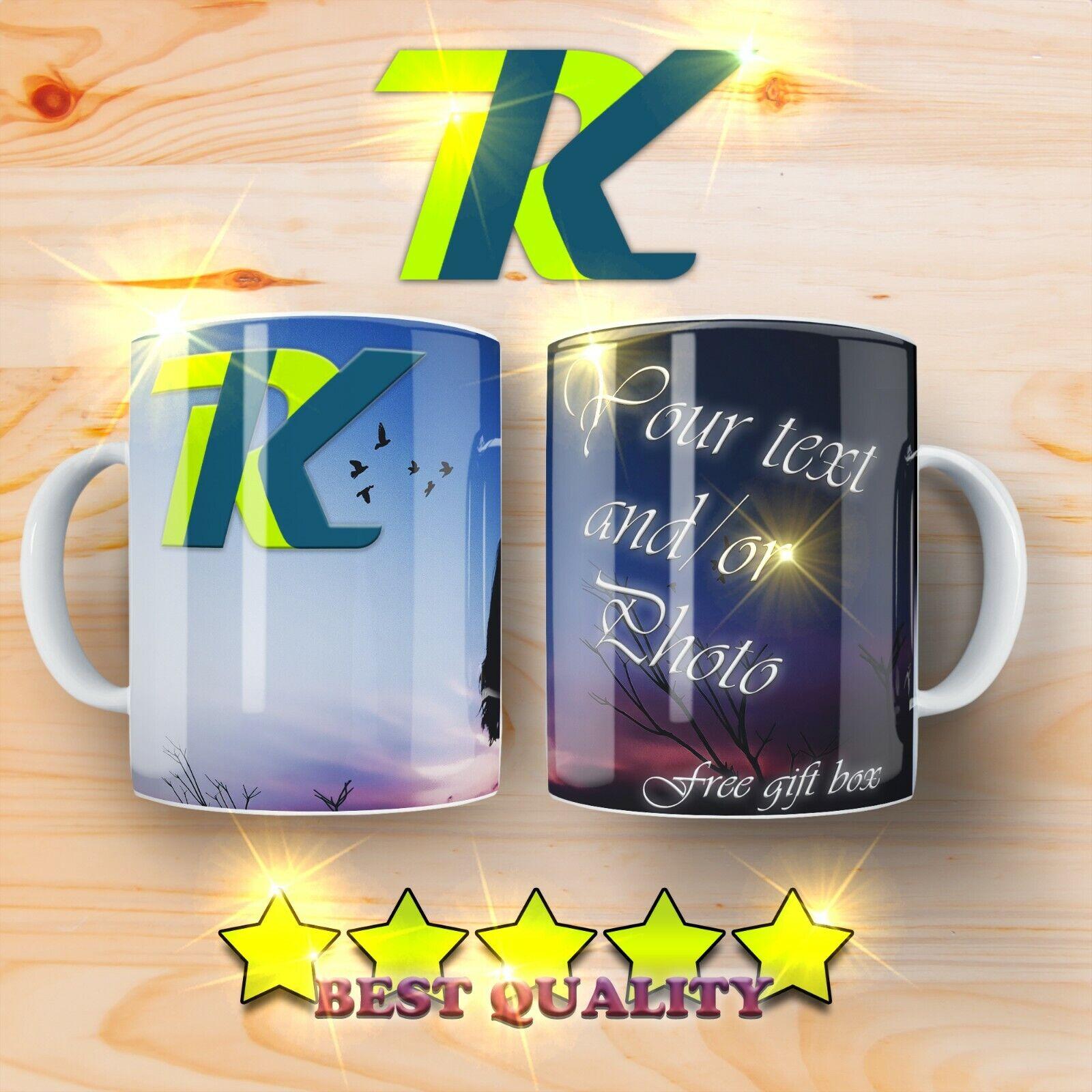 Gift Personalised Photo Mug Custom Cup Text Image Name Logo Fathers Day Birthday