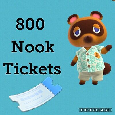 800 Nook Mile Tickets !!! / Animal Crossing New Horizons.. Fast Delivery