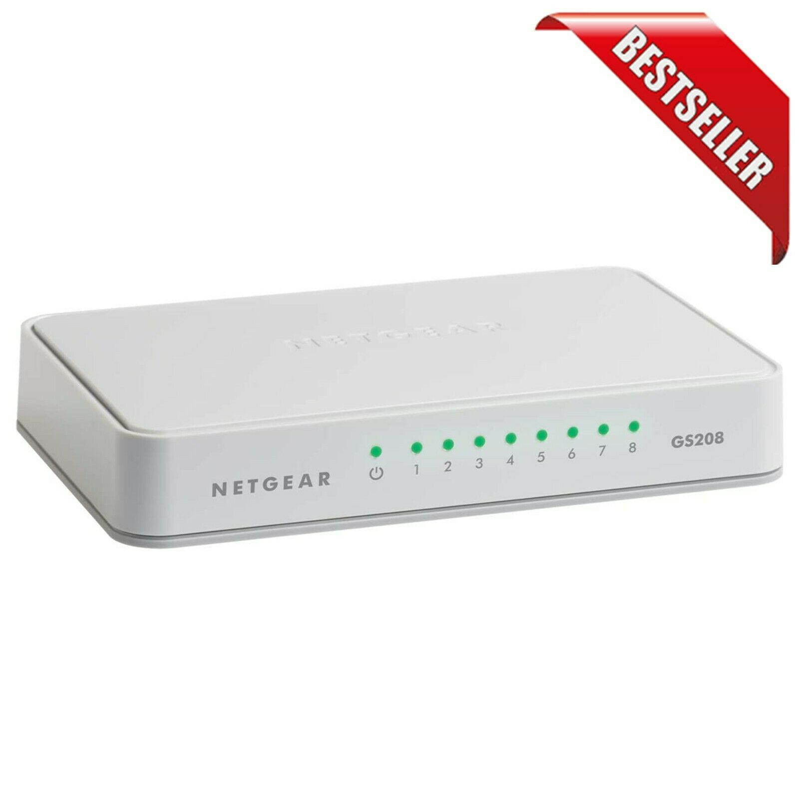 8-Port Gigabit Ethernet Unmanaged Switch, Desktop, Internet