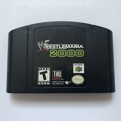 WWF Wrestlemania 2000 Authentic N64 Nintendo 64 Game Cartridge Only (USA/CAN)