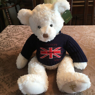 Harrods London White Bear With Sweater