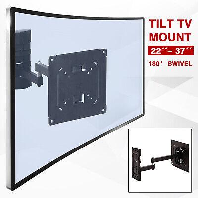 Full Motion TV Wall Mount Bracket Tilt Swivel LCD LED 22