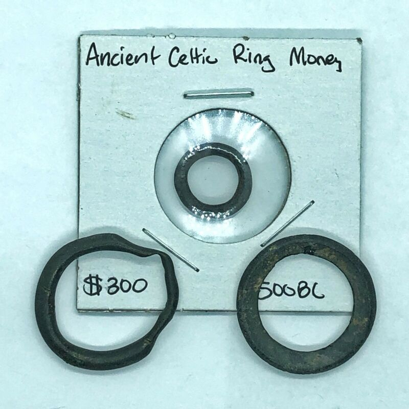 3 Pcs Ancient Celtic Ring Money — Authentic 500 BC Artifacts Coins Europe Old