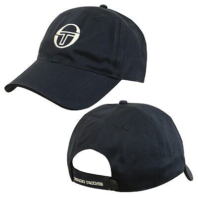 Sergio Tacchini Over Cap Mens Womens Unisex Navy Hat 36665 200 A29A