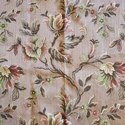 """Vintage Home Decor HEAVY REVERSIBLE Upholstery Fabric-52"""" by 30"""""""