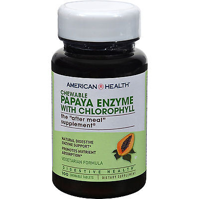 (Papaya Pills Fruit Extract Plant Based Enzyme Digestion Tasty Chewable Tablets)