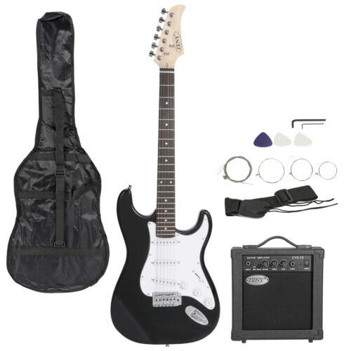 Full Size 39″ Electric Guitar w/ 10 Watt Amp Gig Bag Case Guitar Strap Beginners Electric Guitars