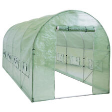 BCP 15x7x7ft Walk-In Greenhouse Tunnel Tent w/ Roll-Up Windows, Zippered Door