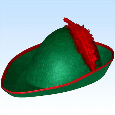 Hut für Robin Hood o. Jäger Kostüm Hüte Faschingshut Karnevalshut Kostümhut