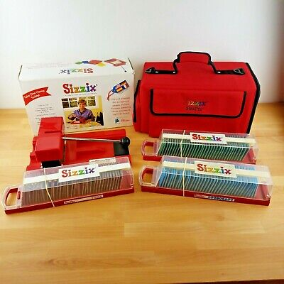 Sizzix Die Cutting Machine & 3 Sizzlits With Carrying Case- Embossing- Alphabets, used for sale  Shipping to Nigeria