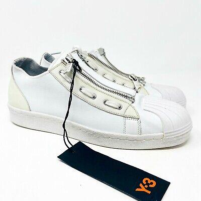 Adidas Y3 Super Zip Yohji Yamamoto White Leather CG3210 Mens Size 8