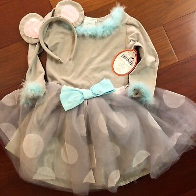 NWT Pottery Barn Kids 3Pc ~MOUSE TUTU~ Girl's 3T HALLOWEEN Costume - Kids Mouse Costume