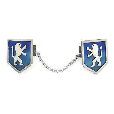 Sterling Silver Lion of Judah Prayer Shawl Tallit Clip Jerusalem Emblem w (Silver Tallit Clips)