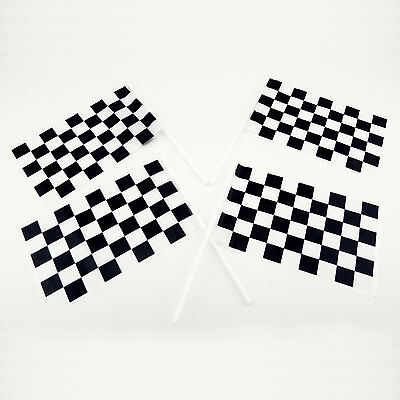 Plastic Checkered Mini Racing Flags 72 Pcs Package Nascar Theme Party Favor Lot - Plastic Checkered Flags
