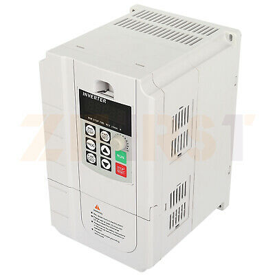 Ac 30a Variable Frequency Drive Cnc Vfd 220v 5.5kw Inverter Frequency Converter
