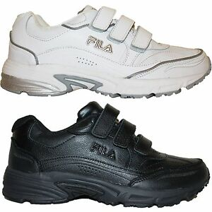 mens fila comfort trainer velcro walking athletic