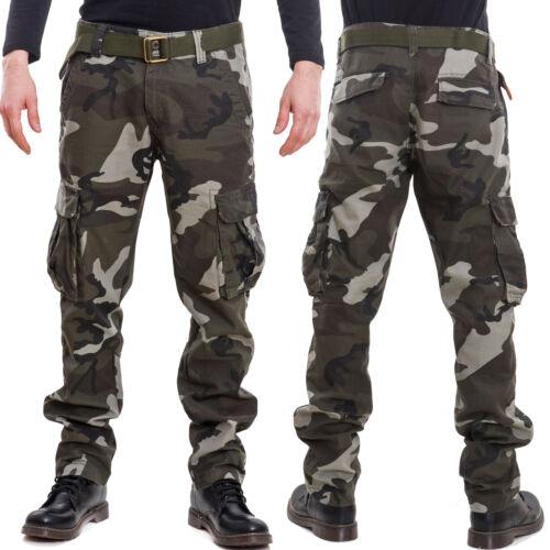 Lb907 Détails Camouflage Cargo Sur Neuf Militaire Homme Pantalons Mimétiques Poches Coton bI67Ygfyv