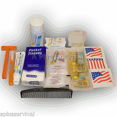 17 Piece Male Personal Hygiene Kit Emergency Survival Camping Travel Kits