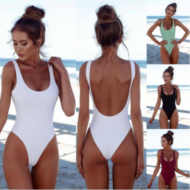 Women Tummy Control Monokini Swimwear Swimsuit Ladies Padded Casual Bathing Suit Clothing, Shoes & Accessories