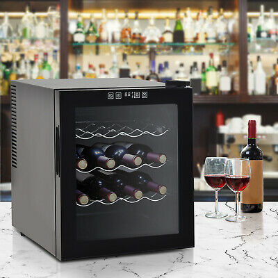 HOMCOM 16 Bottle Wine Cooler Fridge Refrigerator Mini Bar Touch Control 11-18°C