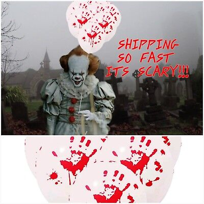 10 Bloody Balloons creepy Halloween Party scary Horror Haunted Decor - Halloween Costume Party Decorations