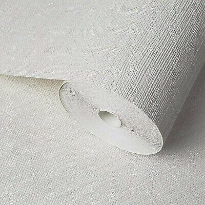 modern Wallpaper rolls textured stripes lines Off white cream faux grasscloth