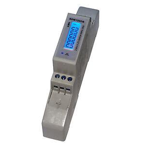 *PORTOFREI* LCD Wechselstromzähler Stromzähler 5(45)A S0 für Hutschiene beleucht