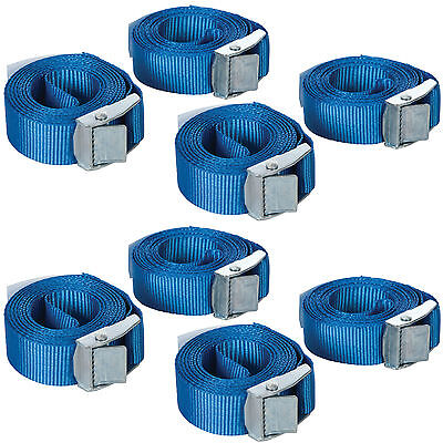 8 Pack Cam Buckle Tie Down Straps Trailers Roof Racks Trailers 25 x 2500mm Long