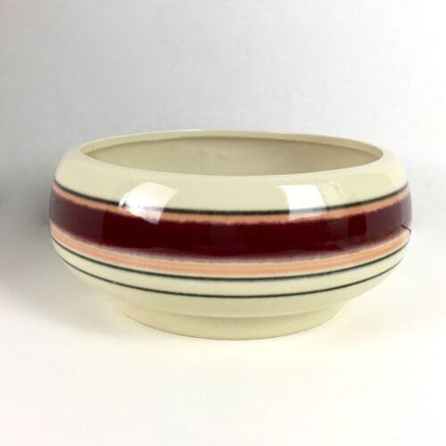 Vintage CP USA Signed Ceramic Bowl #36 Southwest Design Band Stripes
