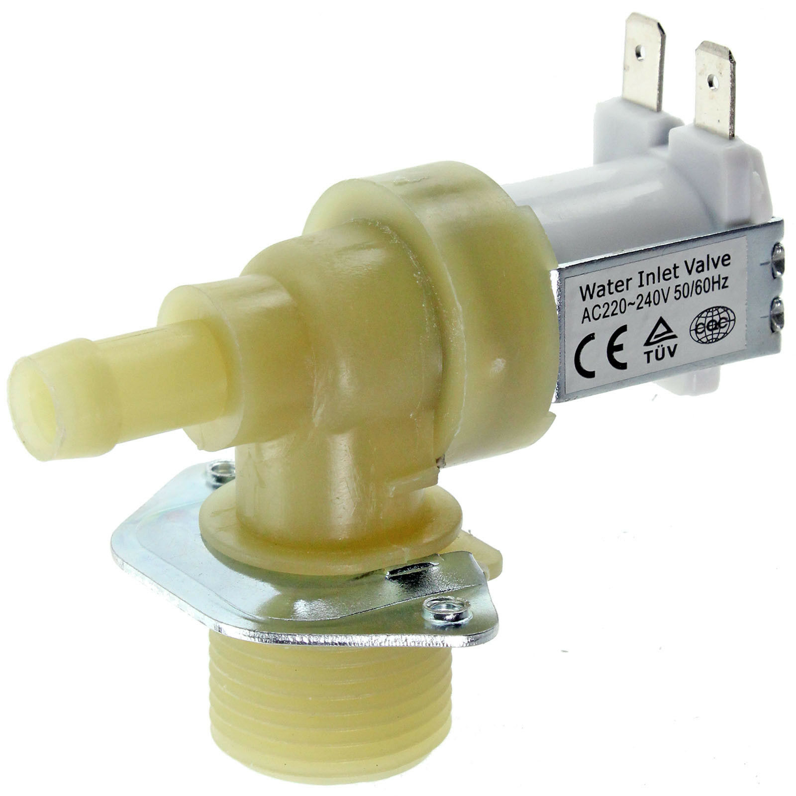 CREDA Washing Machine Solenoid Valve Electric Water Fill Single Inlet 14mm