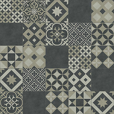 New Quality Non Slip Flooring Lino Kitchen Baroque Retro