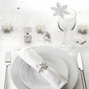 Shimmering-snowflake-place-cards-bubbles-for-christmas-wedding-table-decoration