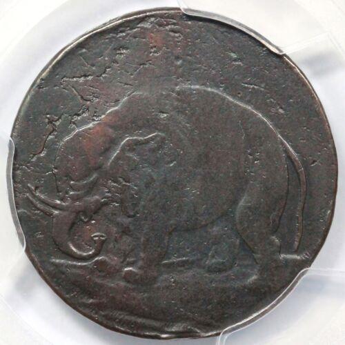 "(1694) Pcgs Vf Details Lon Don Rare ""godless"" Elephant Token 1/2p"