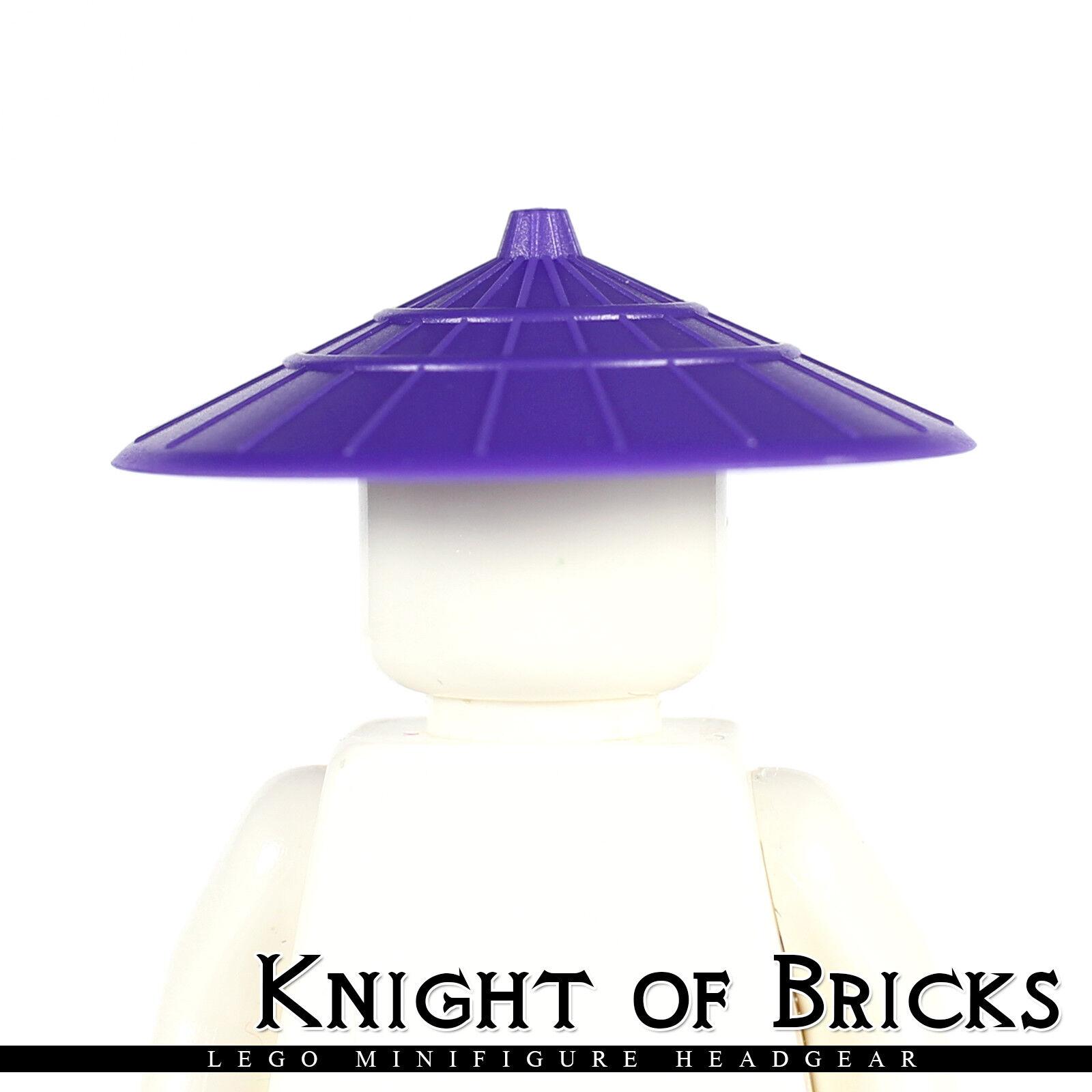 Lego Ninjago Red Minifig Headgear Hat Conical Asian NEW