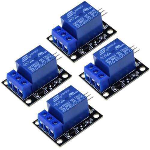 4pcs 5V Single 1 Channel Relay Module Board Shield For Arduino Raspberry Pi
