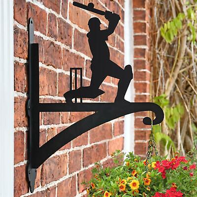 New Cricket Player Iron Hanging Basket Bracket - 47cm x 33cm