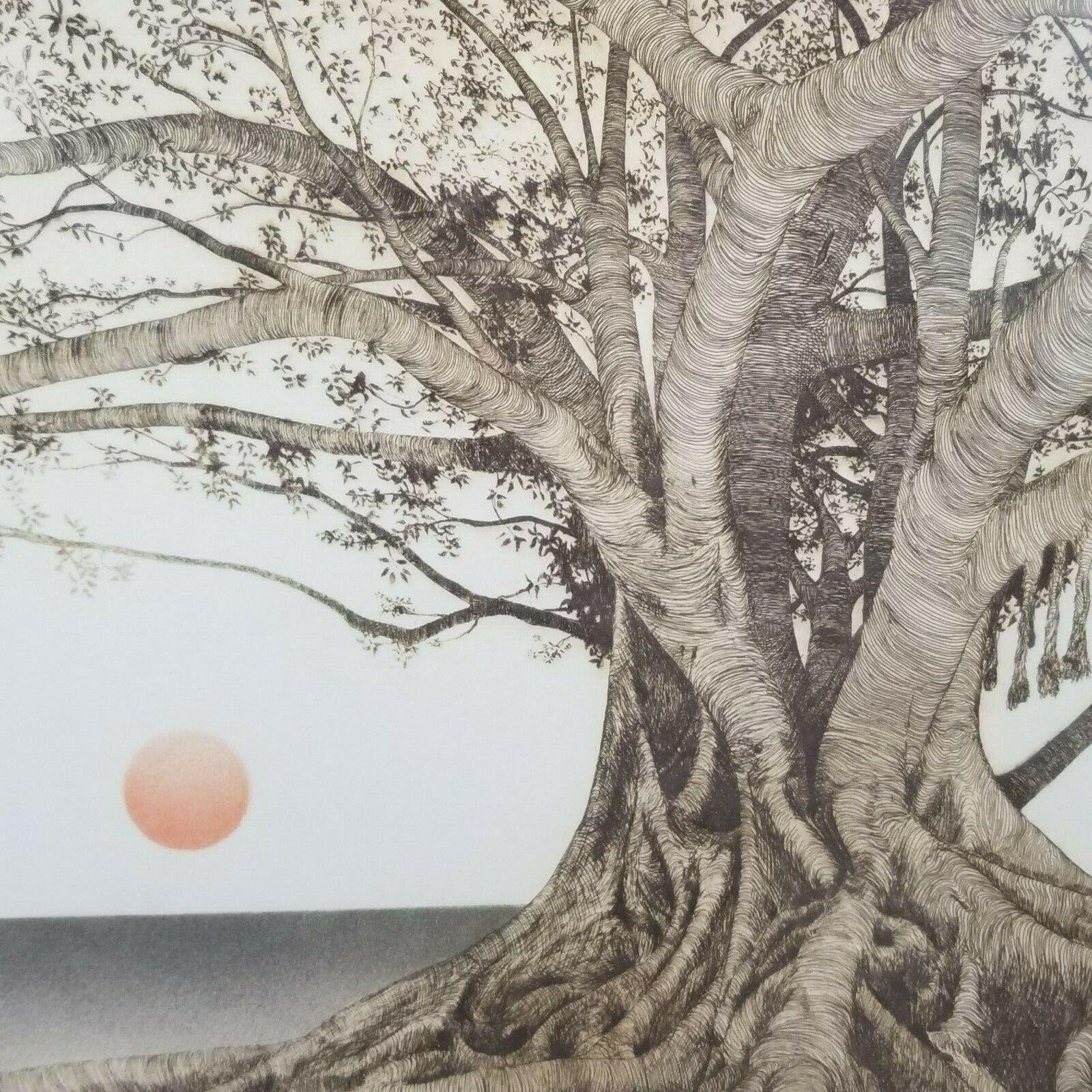 "Michael Arth 1976 Litho ""Tropical Fig Tree"" Framed"
