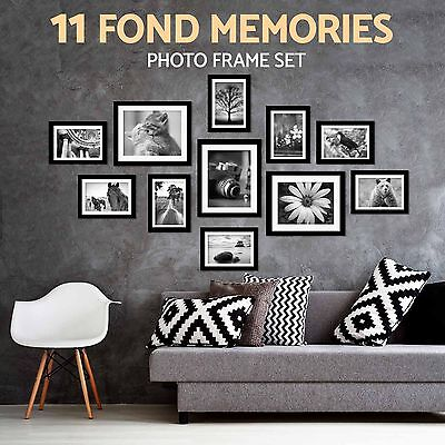 11 Pcs Photo Frame Set Black Picture Display Wall Hanging Modern Art Home Decor