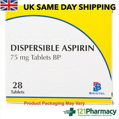 Aspirin Dispersible 75mg ONE a DAY (Low Dose) - 84 Tablets