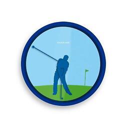 Kikkerland Golfer 8-Inch Wall Clock
