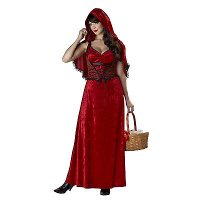Women's Red Riding Hood Costume Long Dress Cape Halloween Classic S M L XL](Red Riding Hood Halloween Costumes For Women)