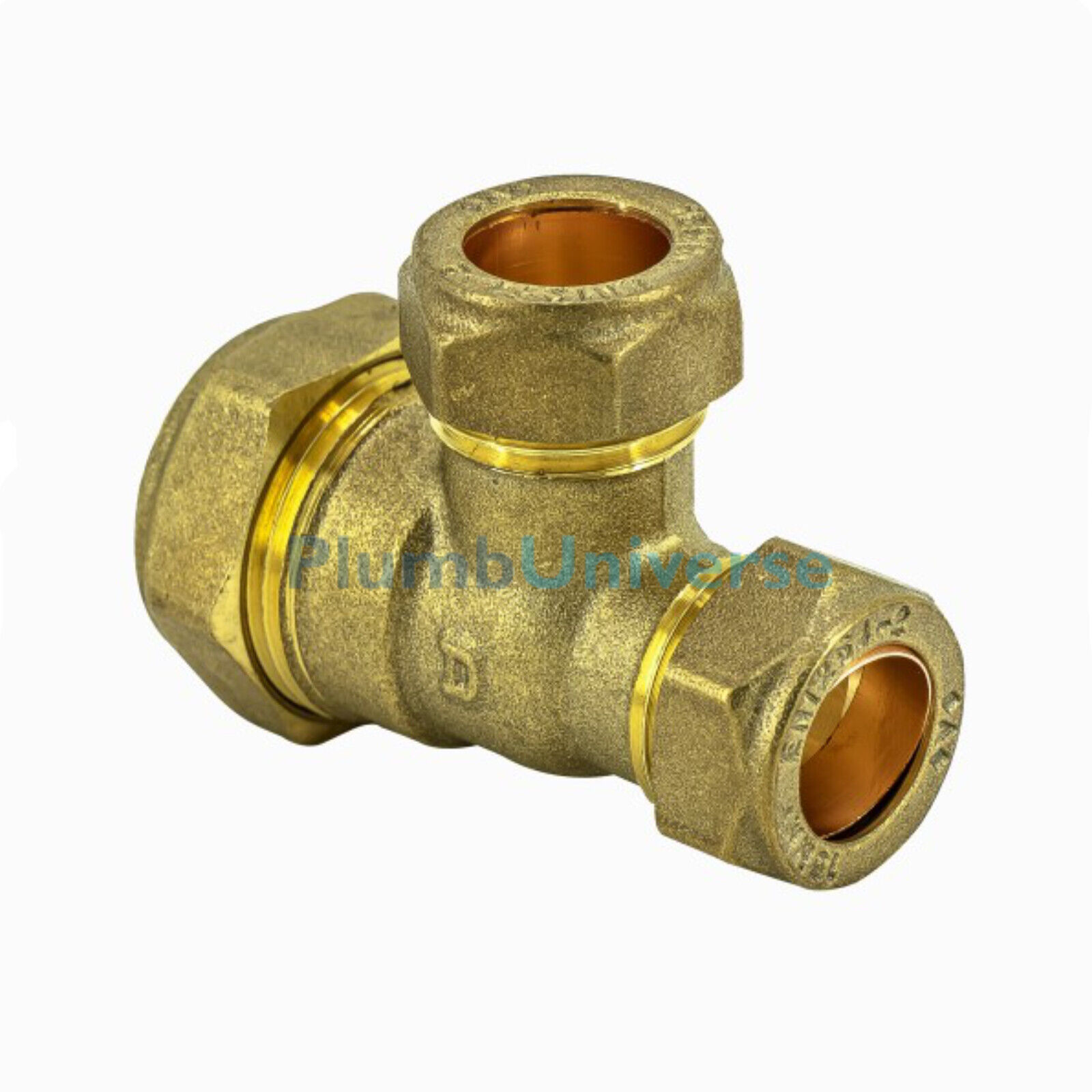 40 x BRASS COMPRESSION OLIVES PLUMBING NEW 22mm