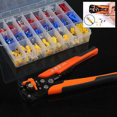 Crimp Tool Kit Ferrule Crimper Plier Stripper 400pcs Connector Wire Terminal